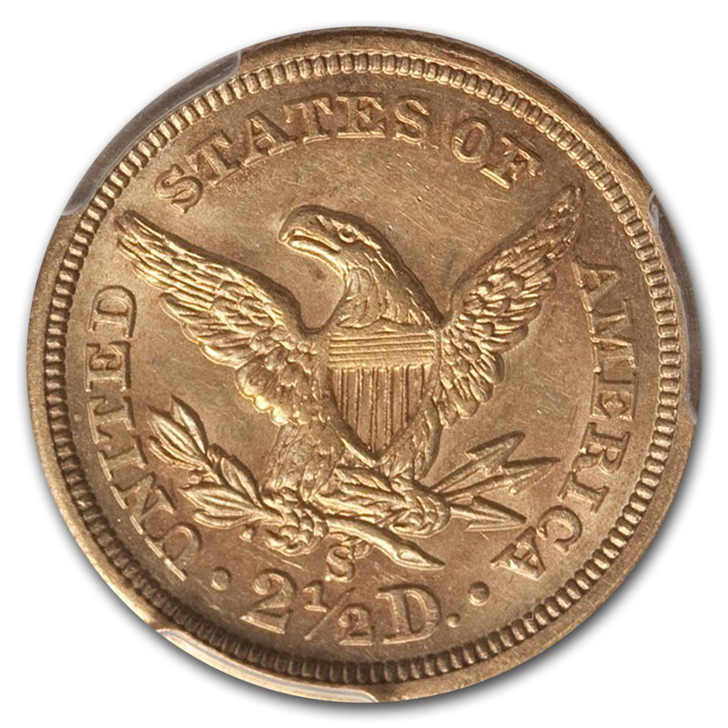 1873 $2.50 Liberty Quarter Eagle MS-62 PCGS