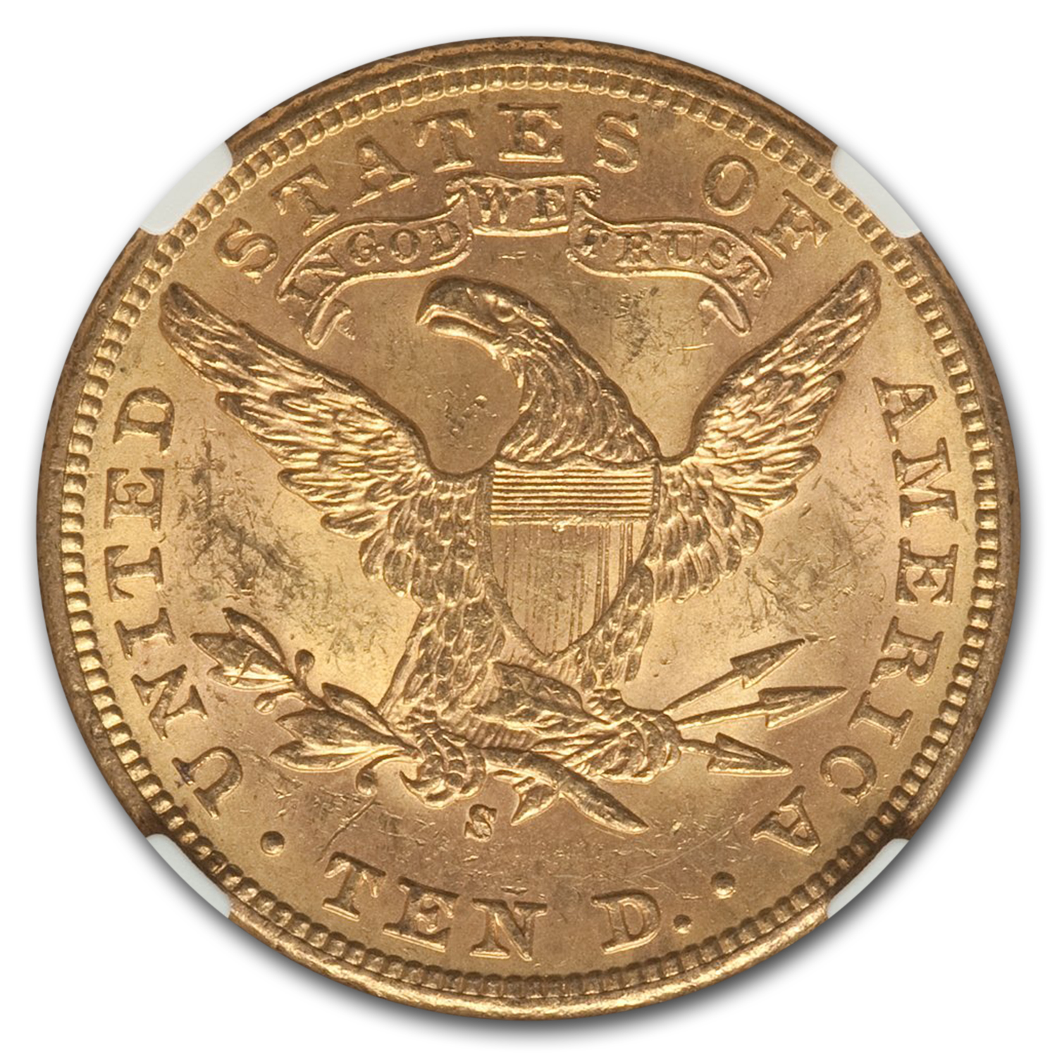 1907-S $10 Liberty Gold Eagle MS-63 NGC