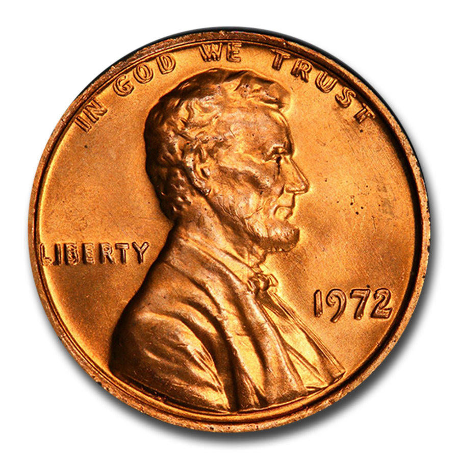 1972 Lincoln Cent Double Die Obverse MS-66 PCGS (Red)