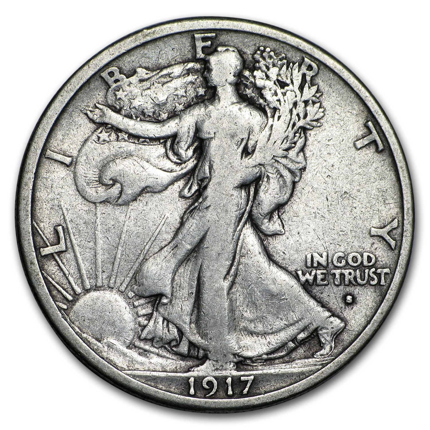 1917-S Obverse Walking Liberty Half Dollar Fine