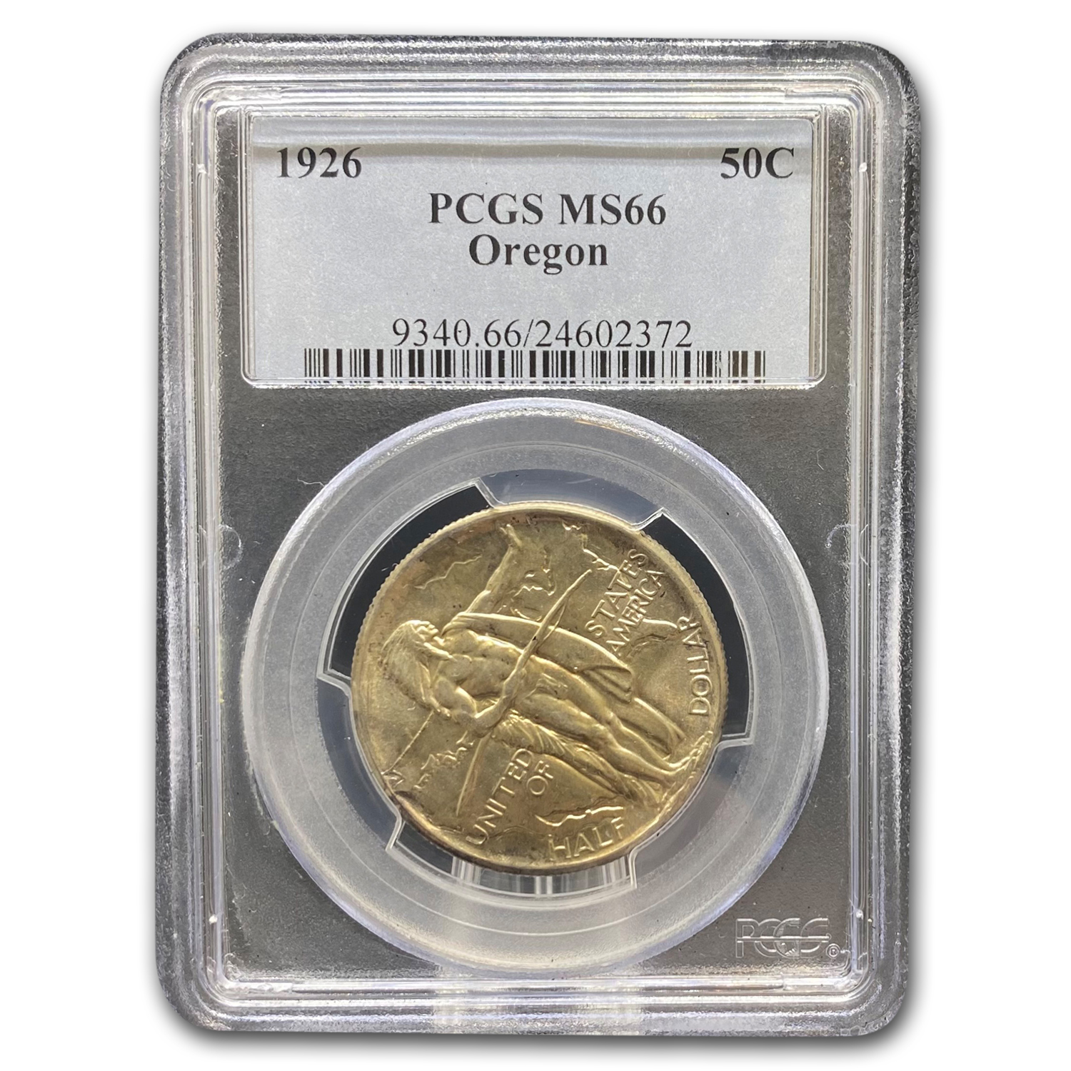 1926 Oregon Trail Memorial Half Dollar MS-66 PCGS