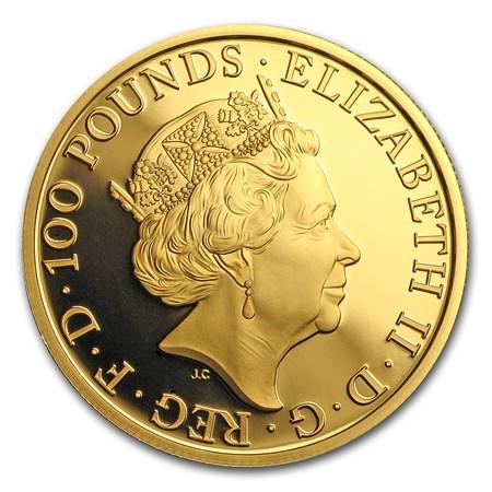 2017 Great Britain Prf 1 4 Oz Gold Queen S Beast Lion Box
