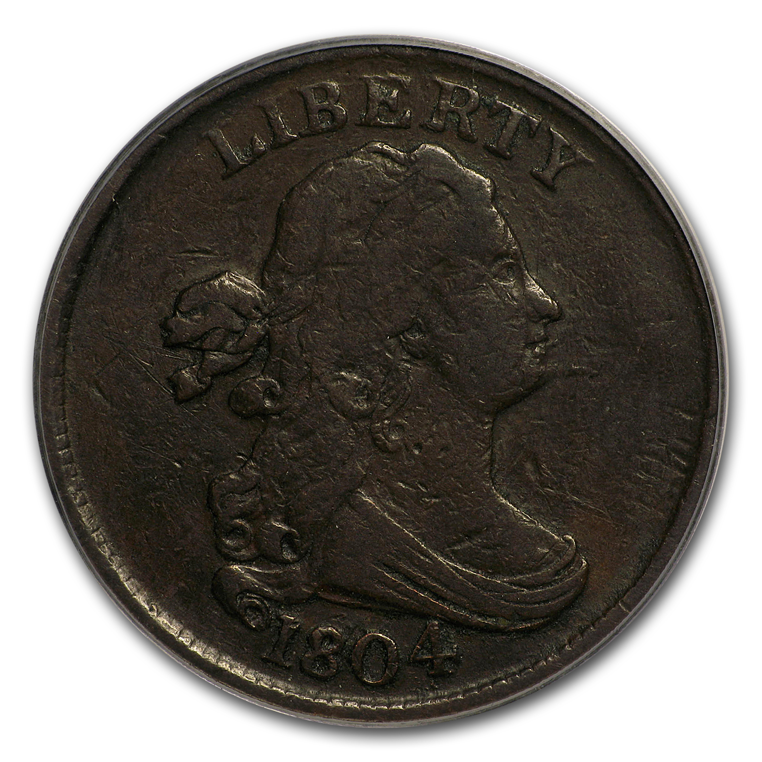 1804 Half Cent VF-25 PCGS (Spiked Chin)