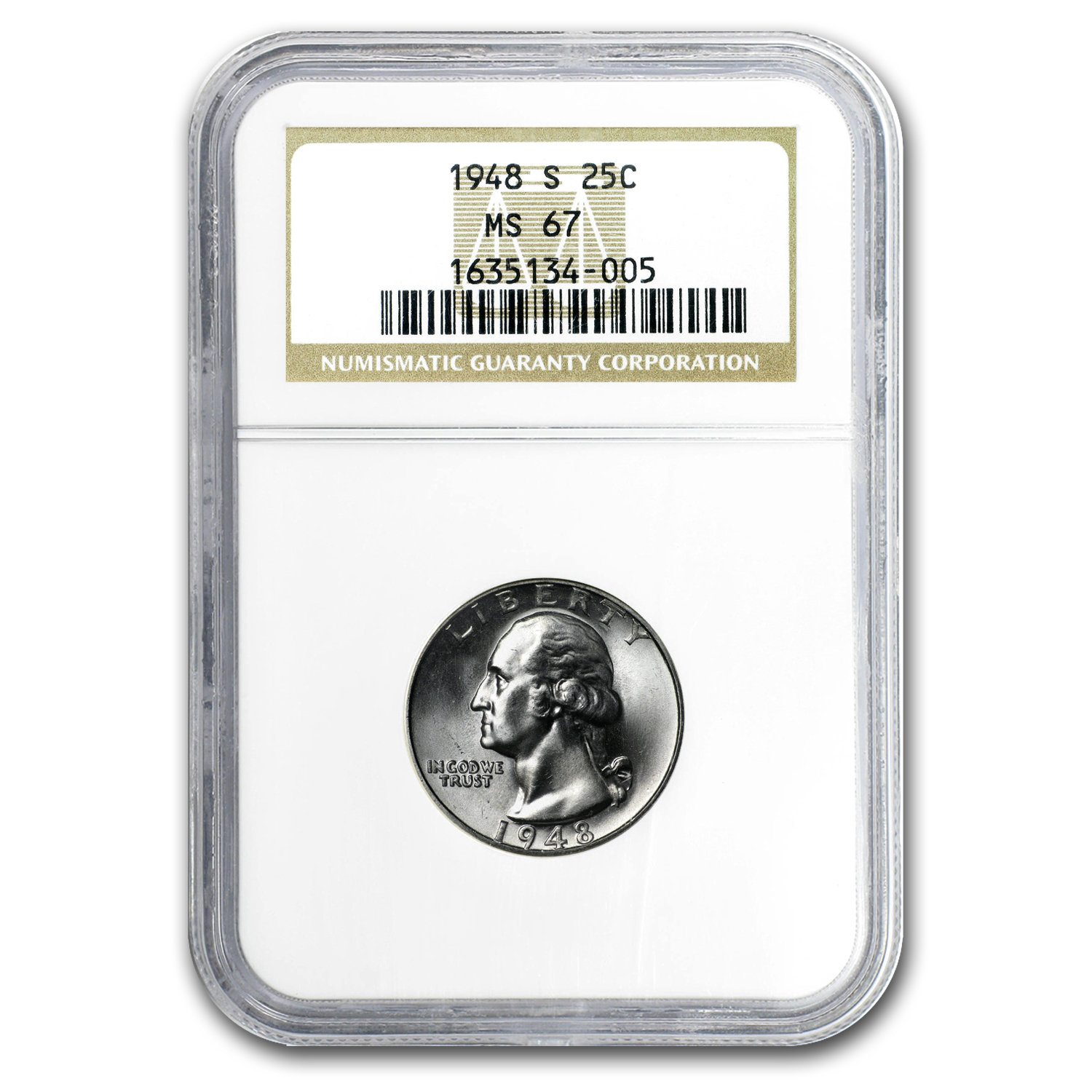 1948-S Washington Quarter MS-67 NGC
