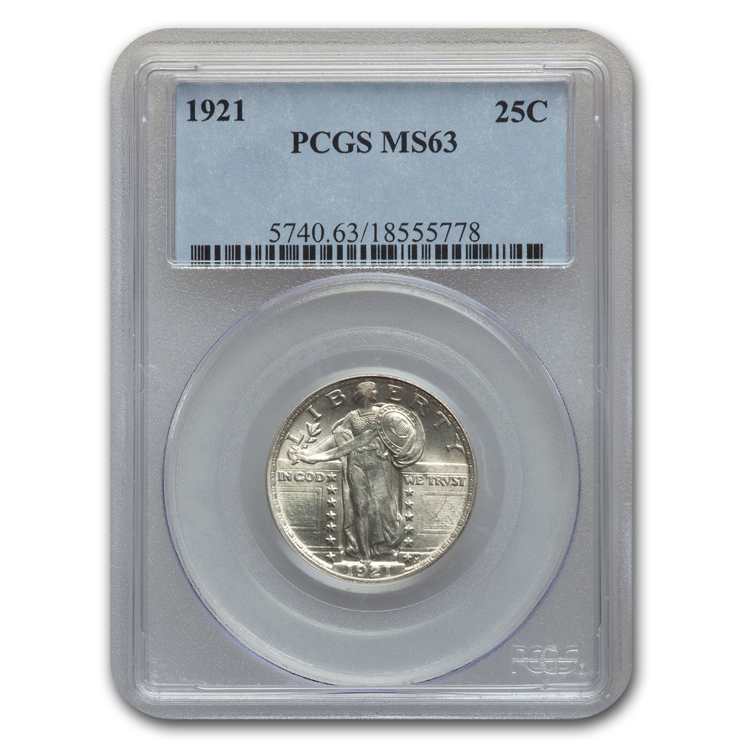 1921 Standing Liberty Quarter MS-63 PCGS