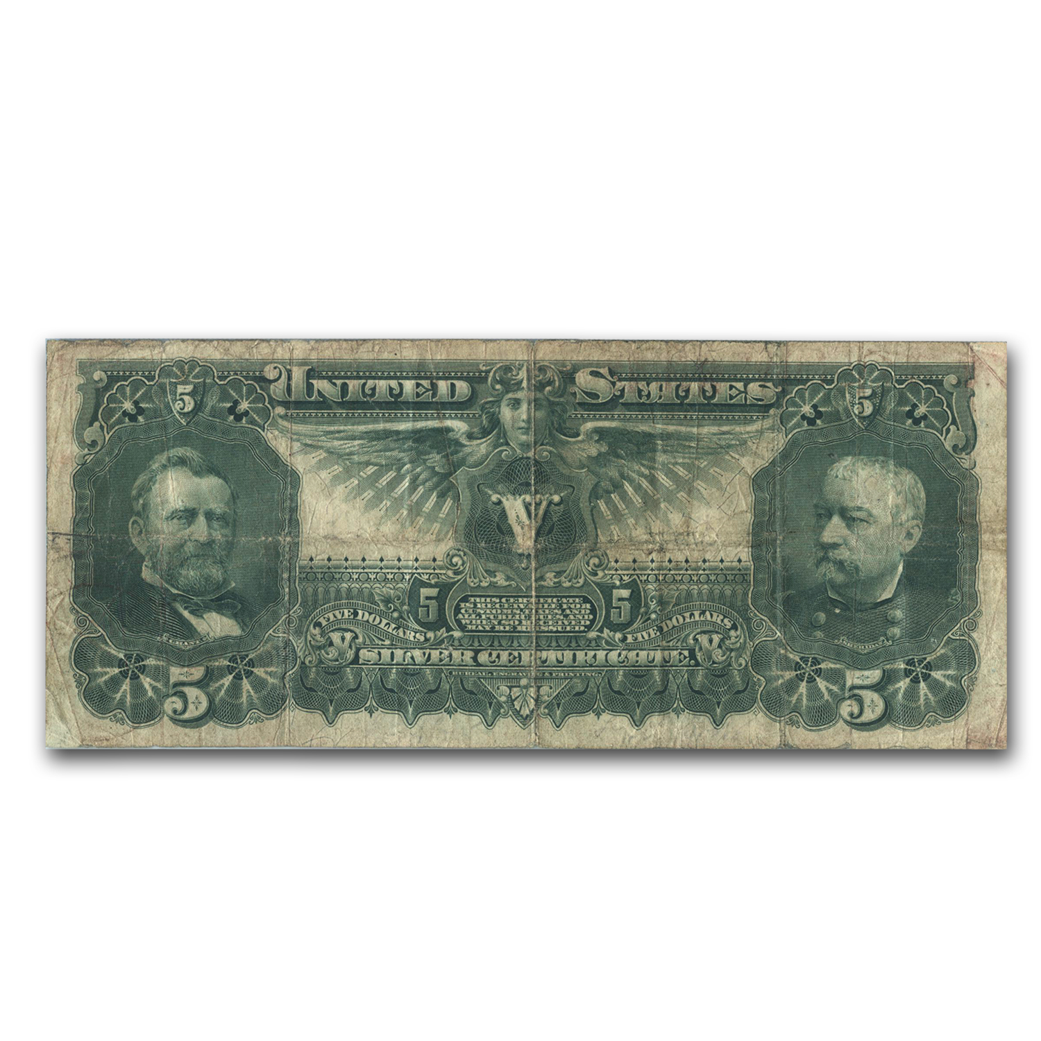 1896 $5.00 Silver Certificate Educational Note VF-20 PMG
