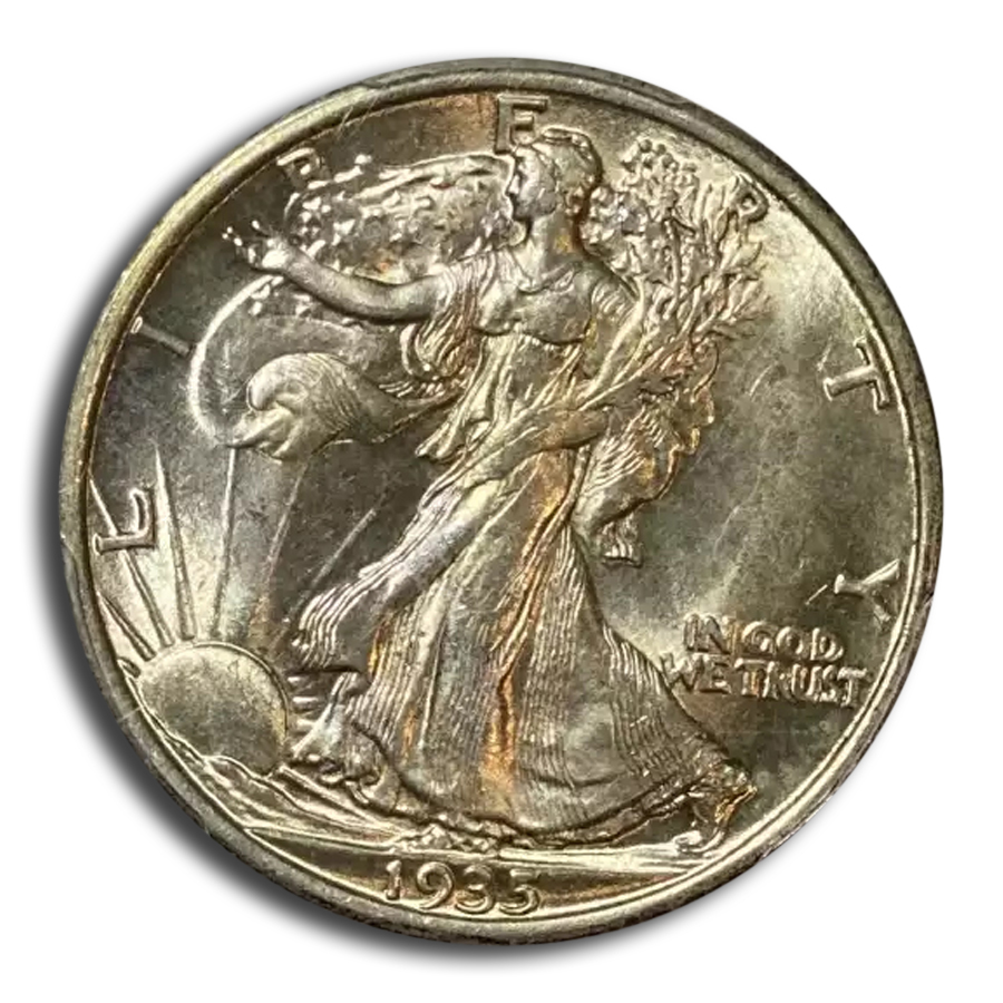 1935 Walking Liberty Half Dollar MS-64 PCGS