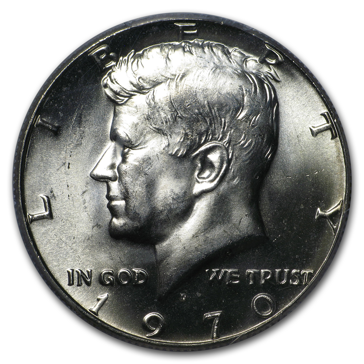 1970-D Kennedy Half Dollar MS-64 PCGS