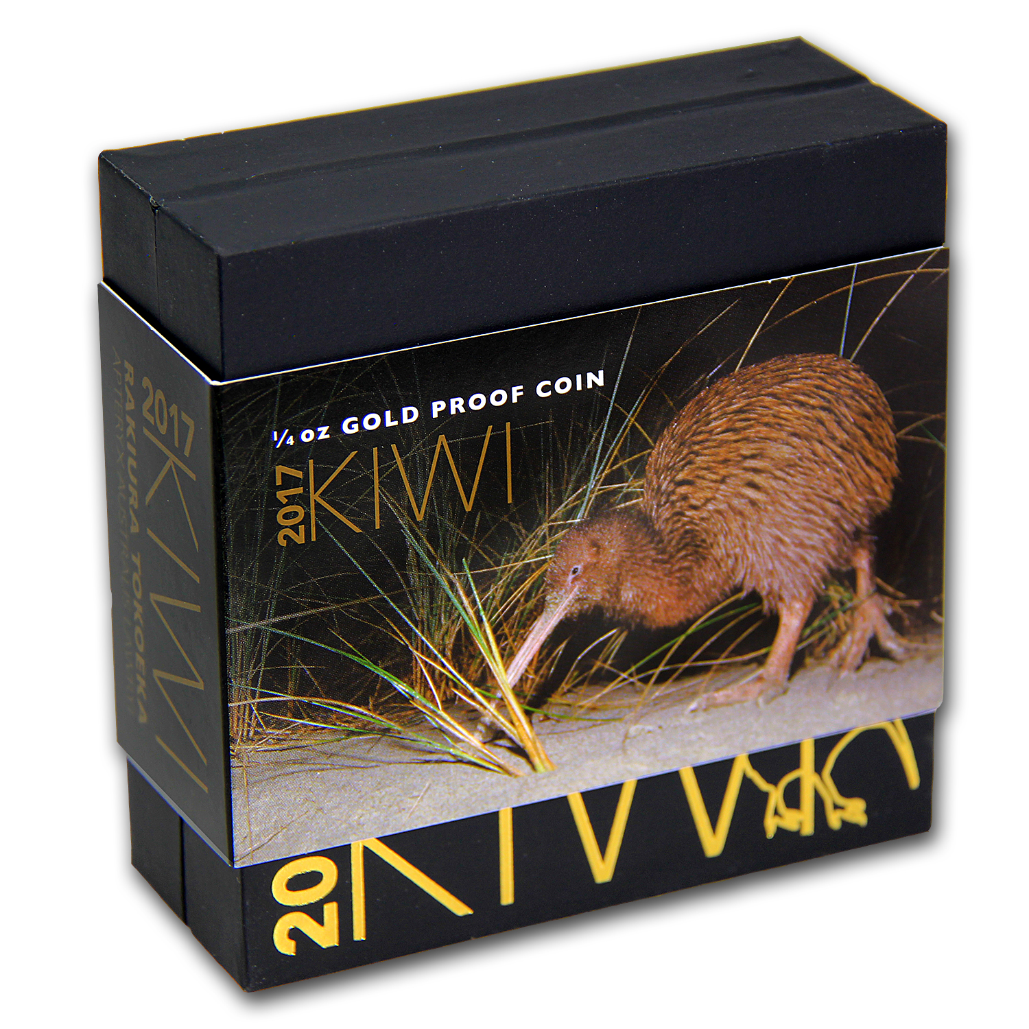 2017 New Zealand 1/4 oz Proof Gold $10 Kiwi