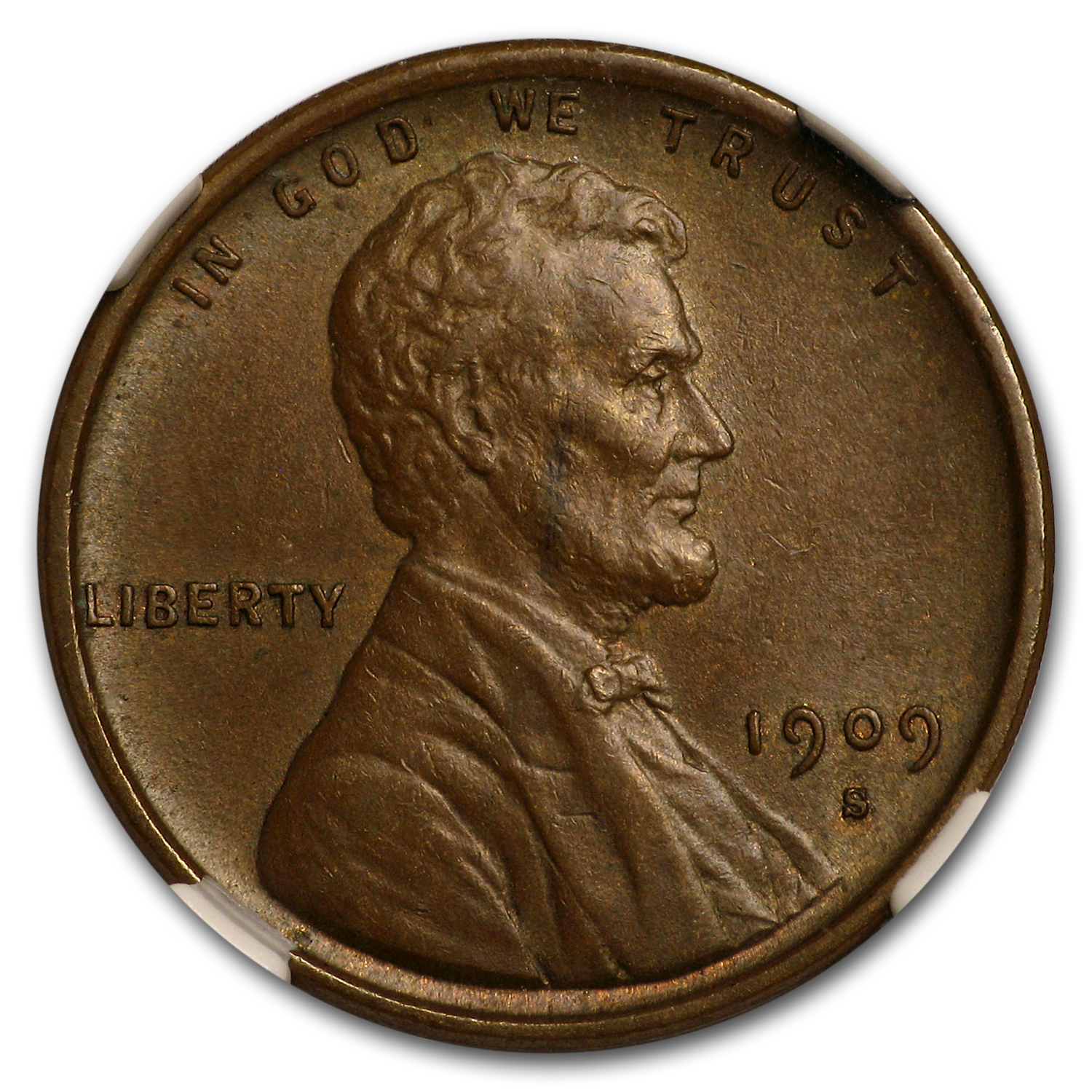 1909-S VDB Lincoln Cent MS-63 NGC (Brown)