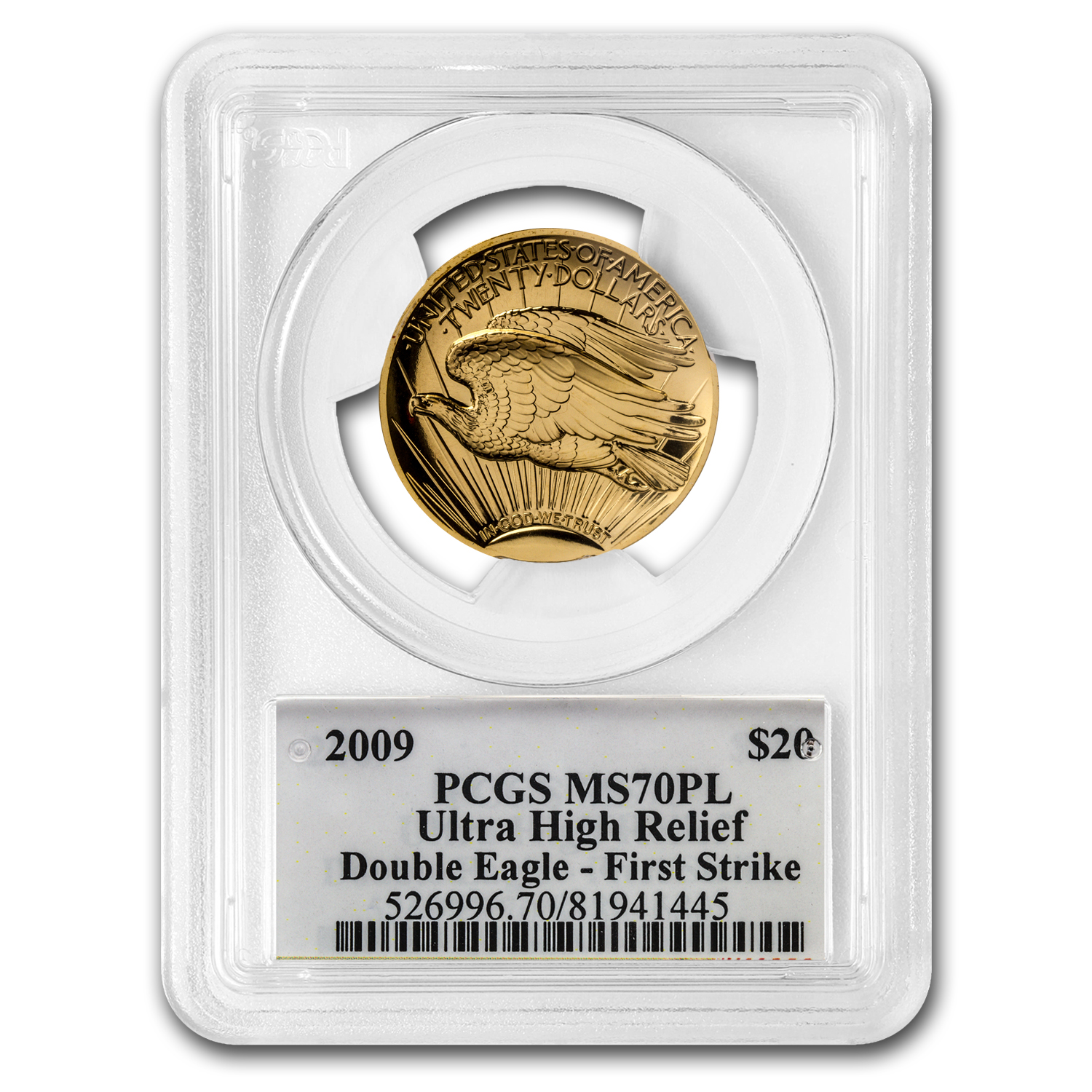2009 Ultra High Relief Dble Eagle MS-70 PL PCGS (FS, Edmund Moy)