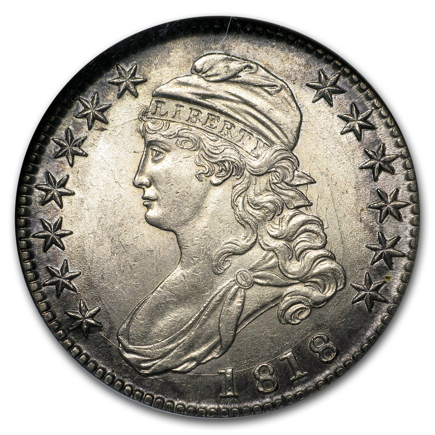 1818 Capped Bust Half Dollar MS-61 NGC