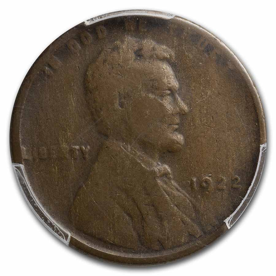 1922 Plain Lincoln Cent VF-20 PCGS (No D, Strong Reverse)
