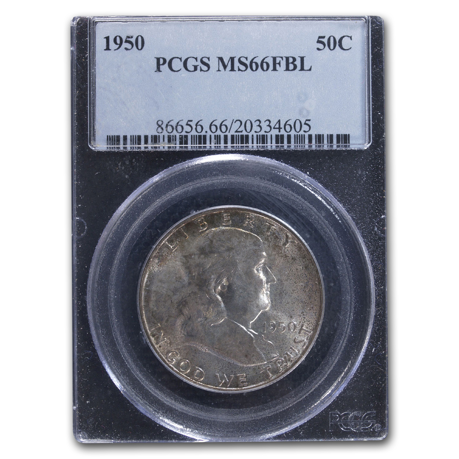1950 Franklin Half Dollar MS-66 PCGS (FBL)