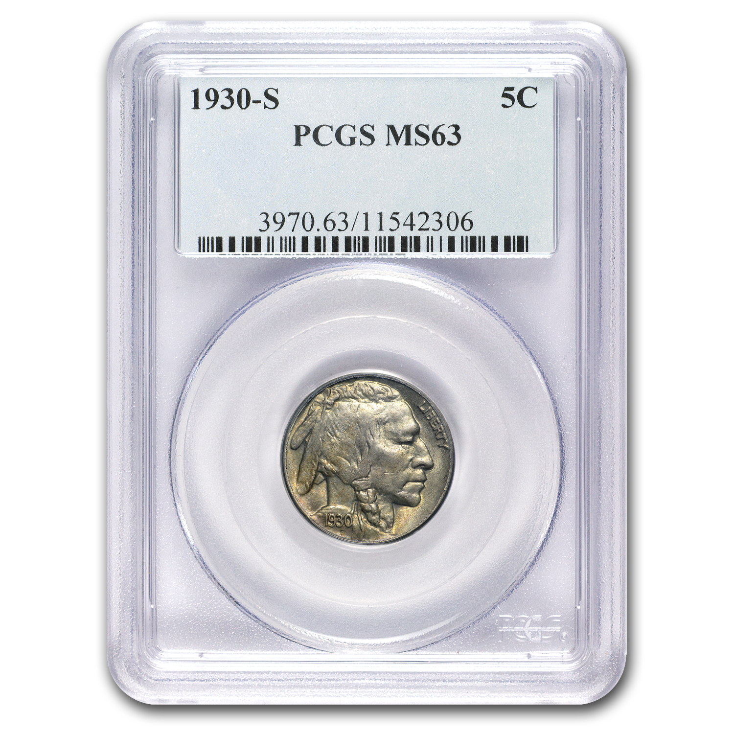 1930-S Buffalo Nickel MS-63 PCGS