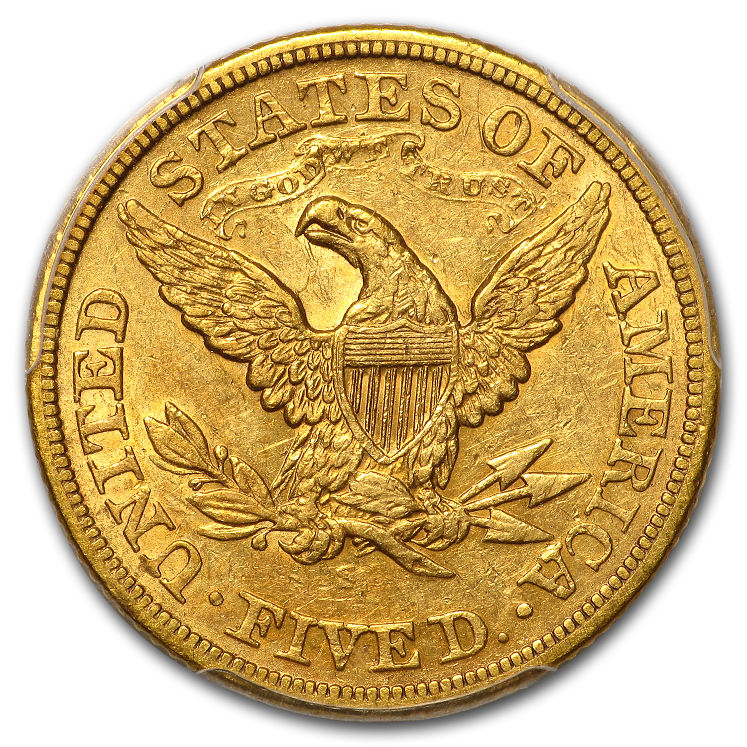 1874-S $5 Liberty Gold Half Eagle AU-53 PCGS