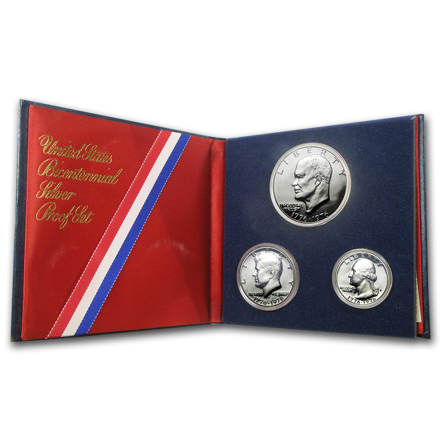 1976 3-Piece 40% Silver Bicentennial U.S. Proof Set