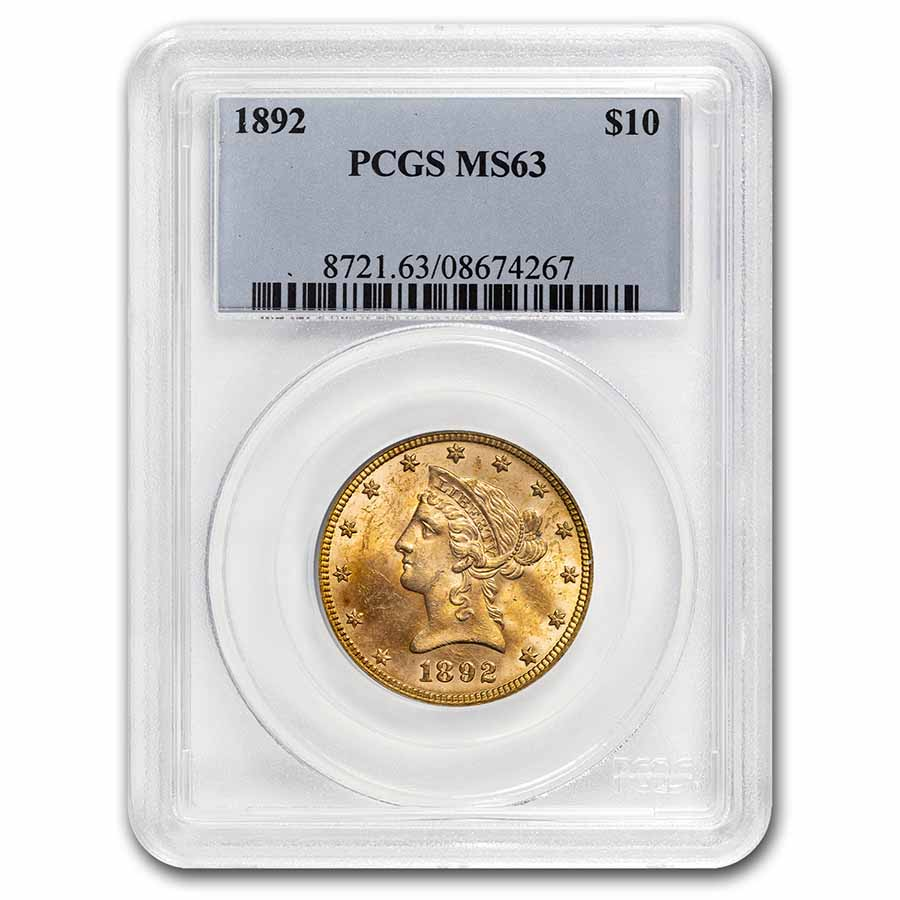 1892 $10 Liberty Gold Eagle MS-63 PCGS