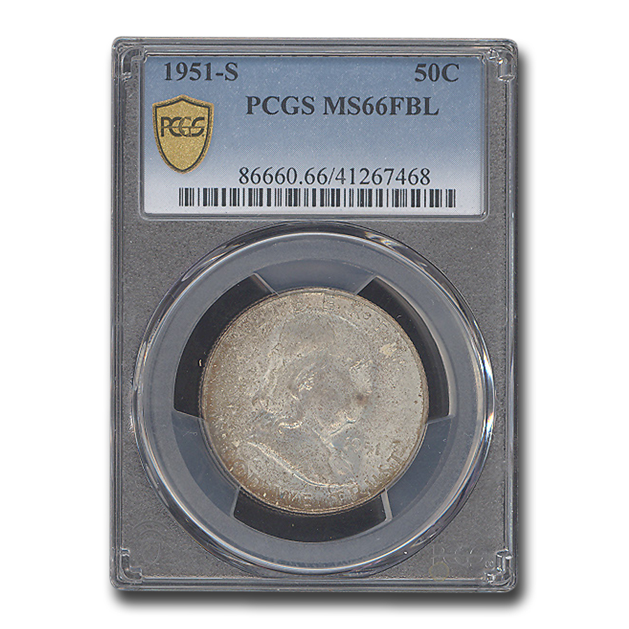 1951-S Franklin Half Dollar MS-66 PCGS (FBL)