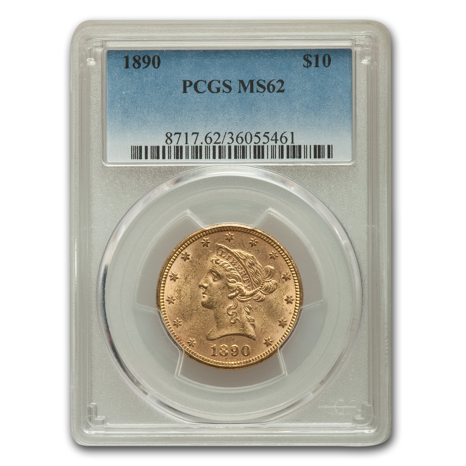 1890 $10 Liberty Gold Eagle MS-62 PCGS