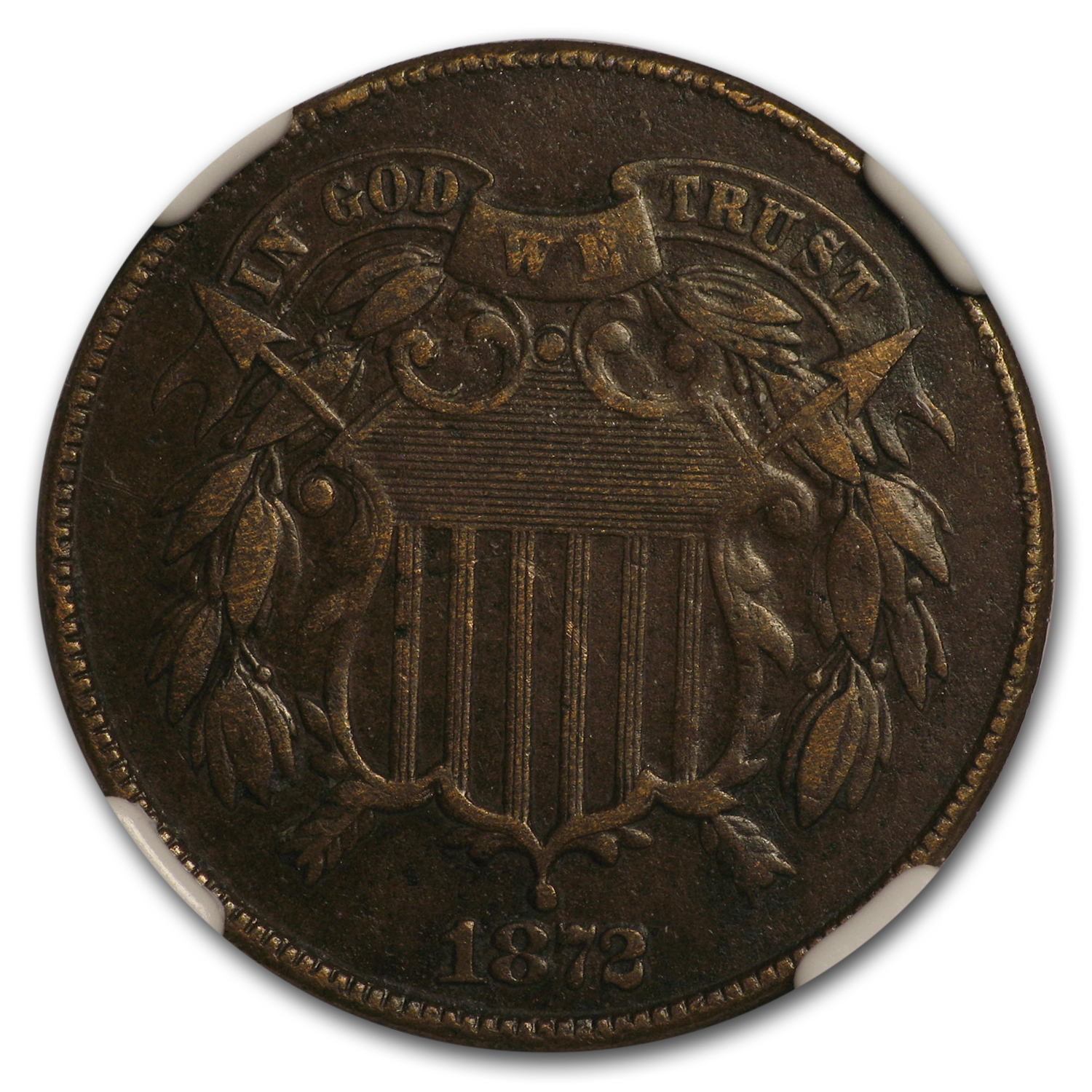 1872 Two Cent Piece VF-30 NGC