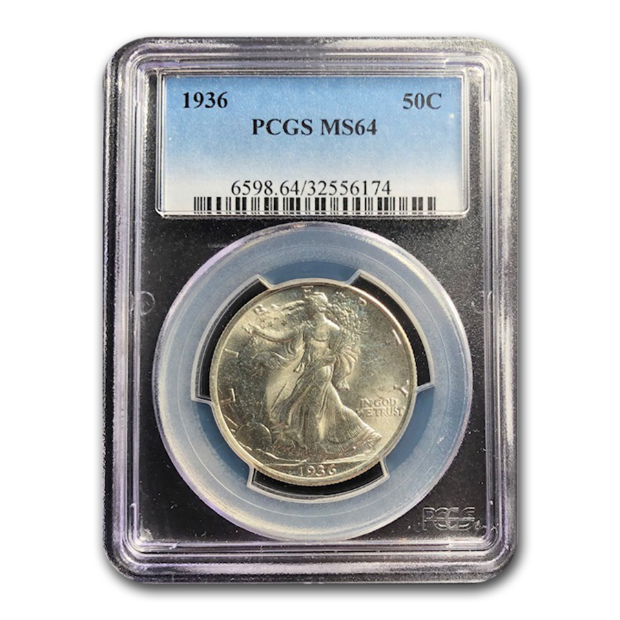 1936 Walking Liberty Half Dollar MS-64 PCGS