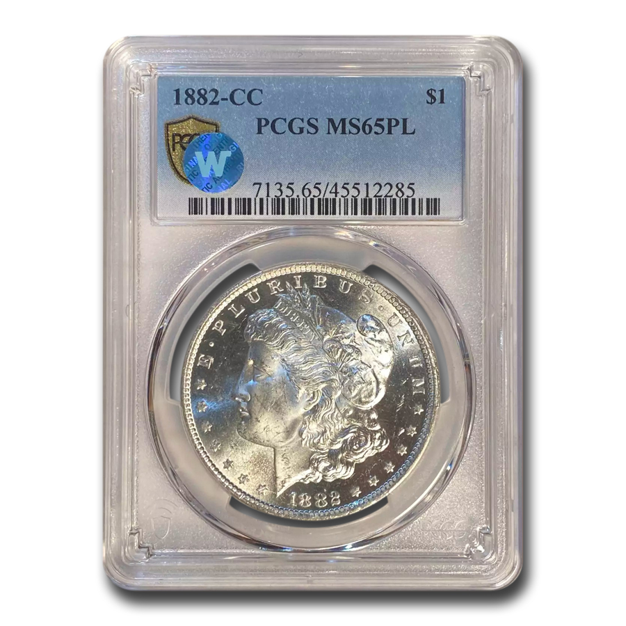 1882-CC Morgan Dollar MS-65 PL PCGS
