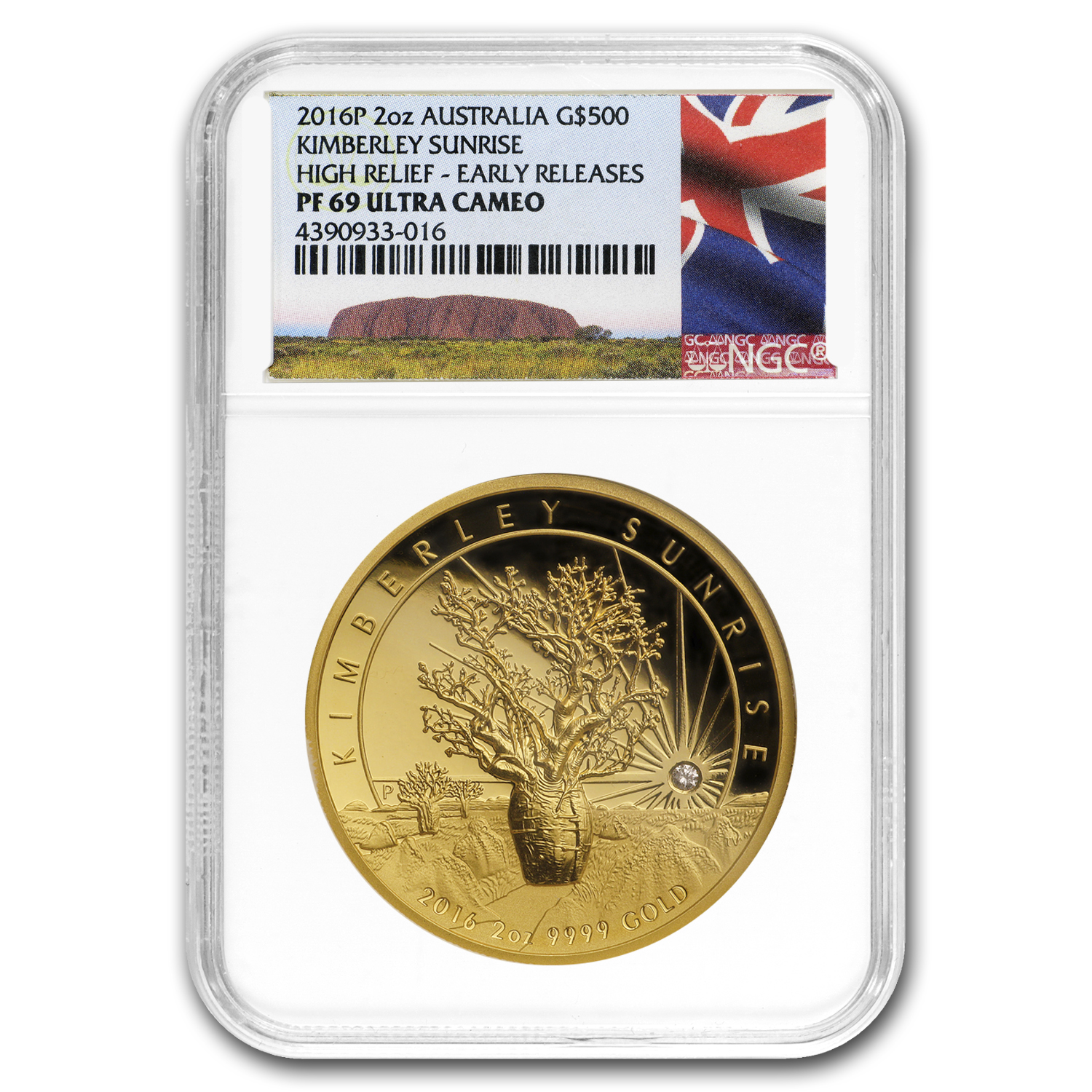 2016 Australia 2 oz Gold Proof Kimberley Sunrise PF-69 NGC