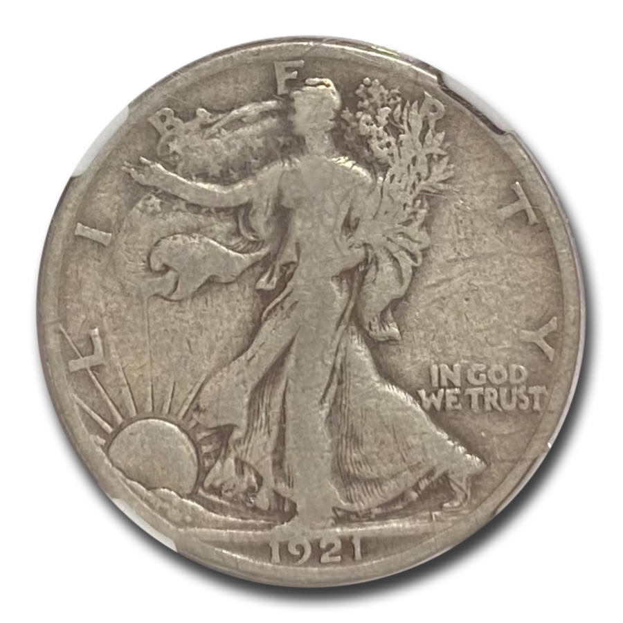 1921-S Walking Liberty Half Dollar Fine-15 NGC