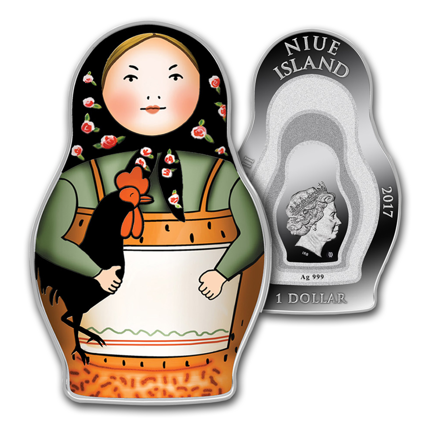 2017 Niue 1 oz Silver Proof Matryoshka Doll
