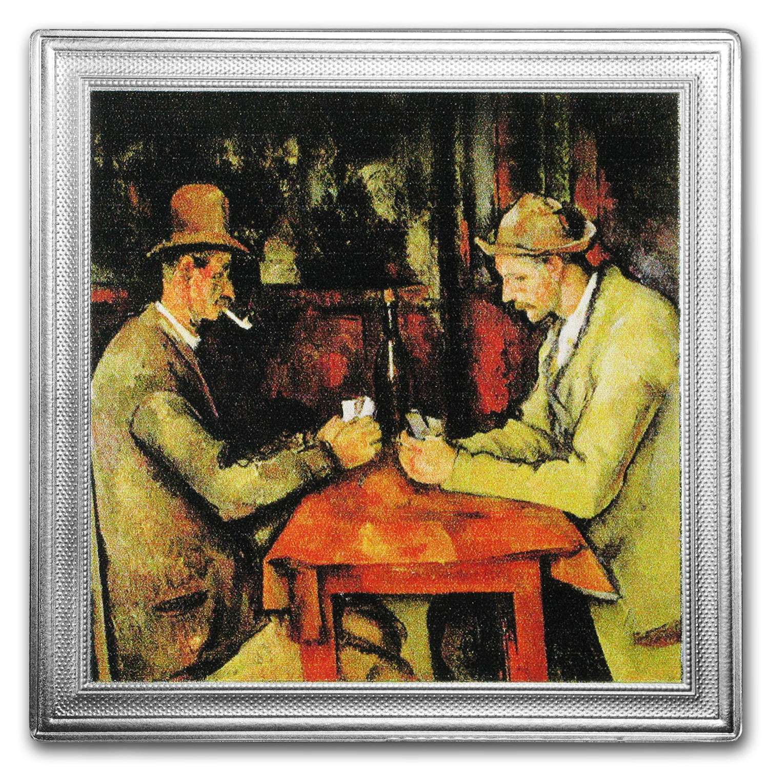 2016 Niue 2 oz Silver Paul Cézanne Painting (The Card Players)