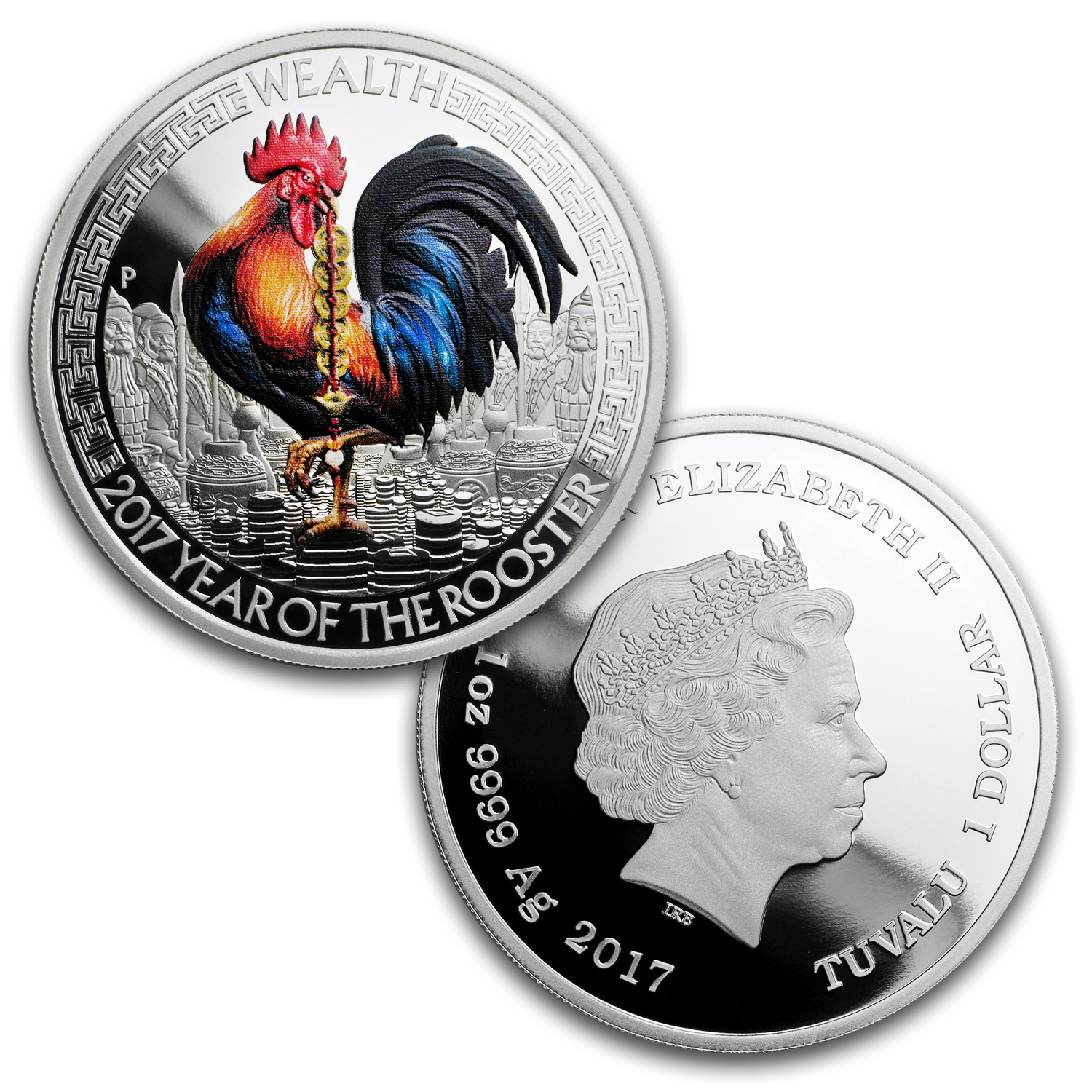 2017 Australia 2-Coin Silver Wealth & Wisdom Proof Rooster Set