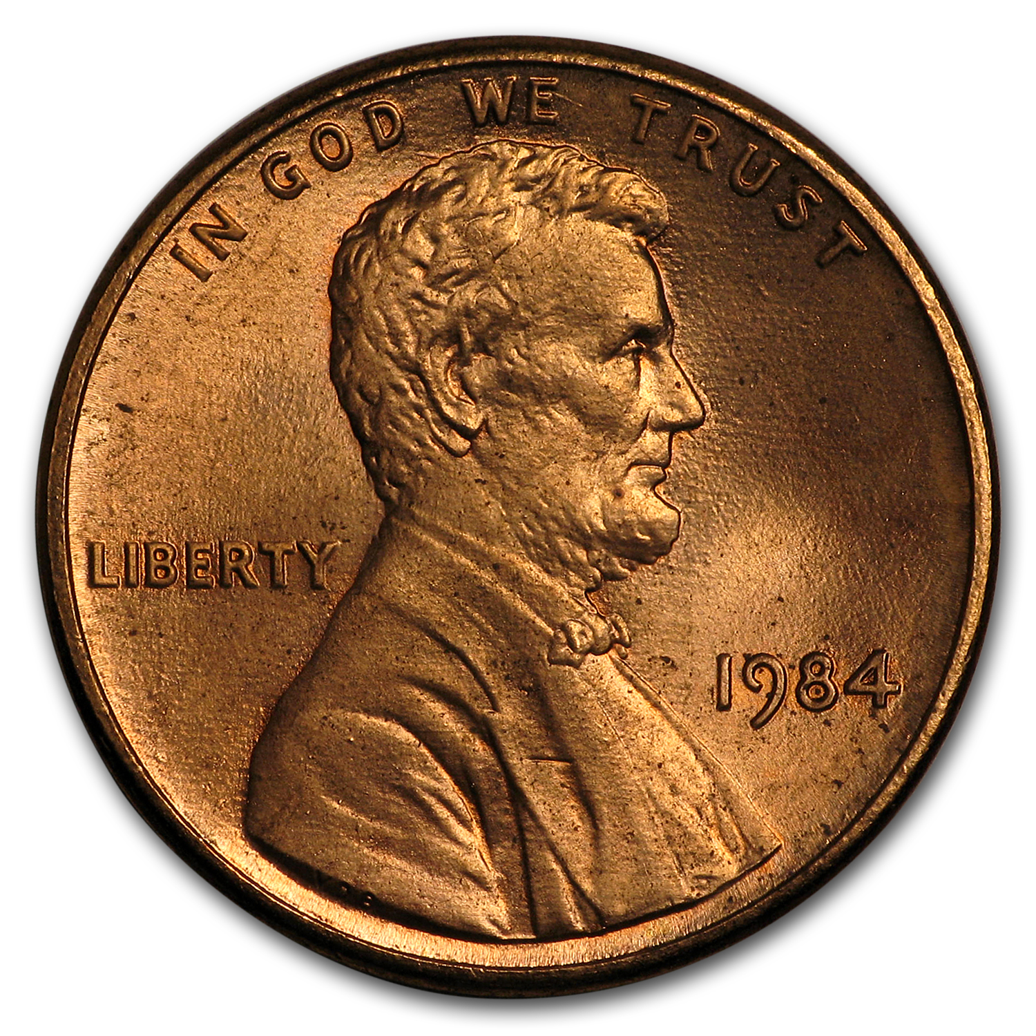1984 Lincoln Cent Doubled Die Obverse BU (RED)