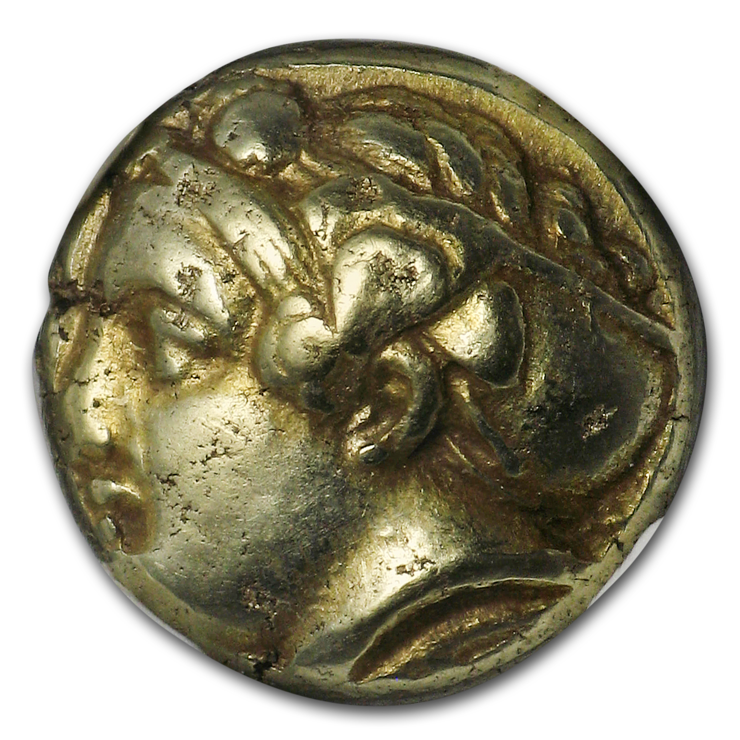 Ionia Phocaea EL Hecte Head of Demeter (387-326 BC) CH XF NGC