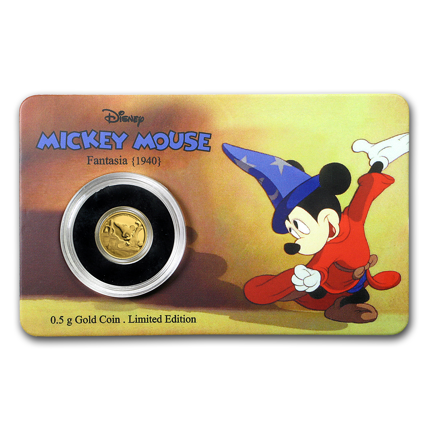 2017 1/2 gram Gold $2.50 Mickey Through the Ages: Fantasia