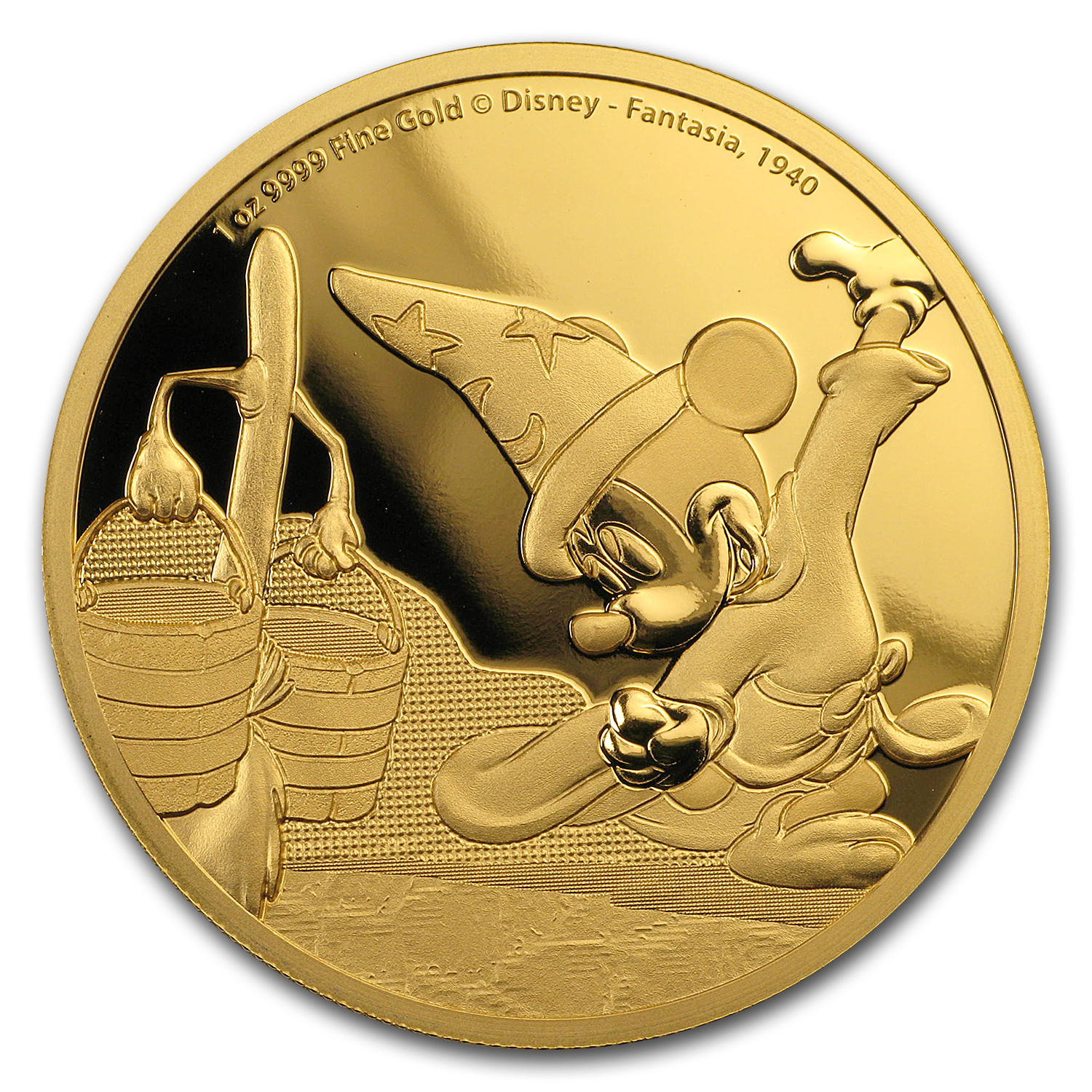 2017 1 oz Gold $250 Mickey Through the Ages: Fantasia