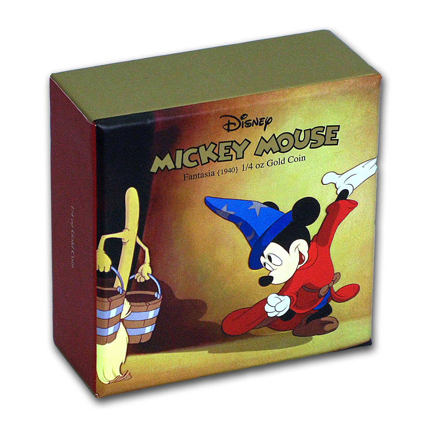 2017 1/4 oz Gold $25 Mickey Through the Ages: Fantasia