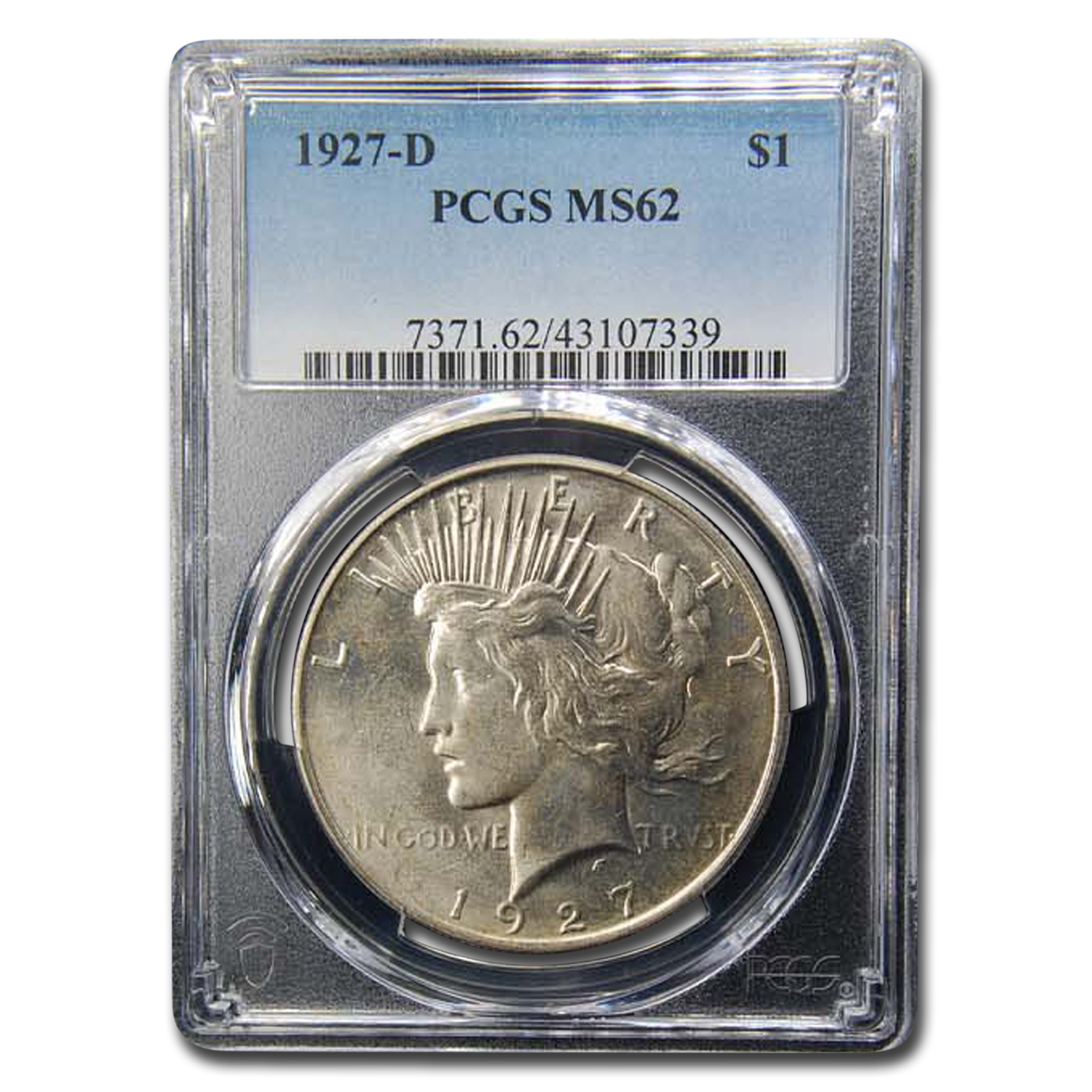 1927-D Peace Dollar MS-62 PCGS
