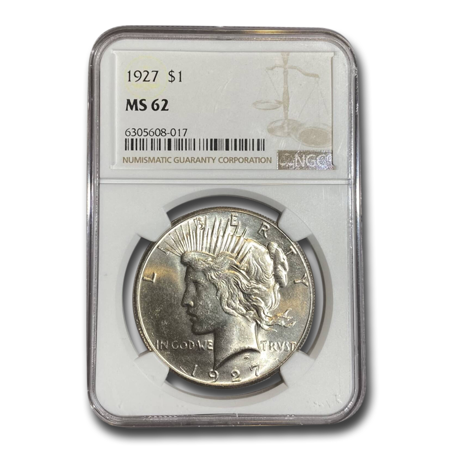 1927 Peace Dollar MS-62 NGC