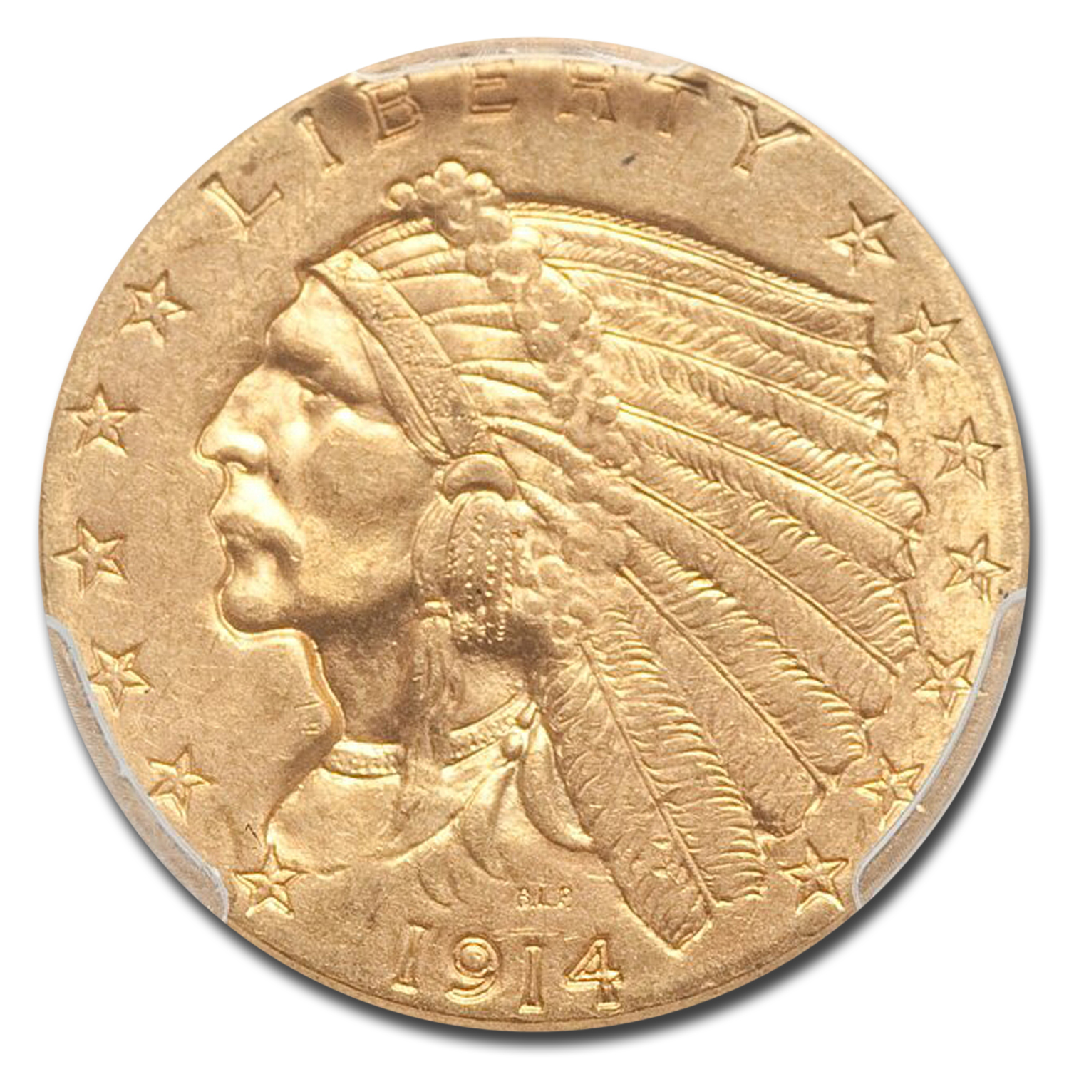 1914 $2.50 Indian Gold Quarter Eagle MS-64 PCGS