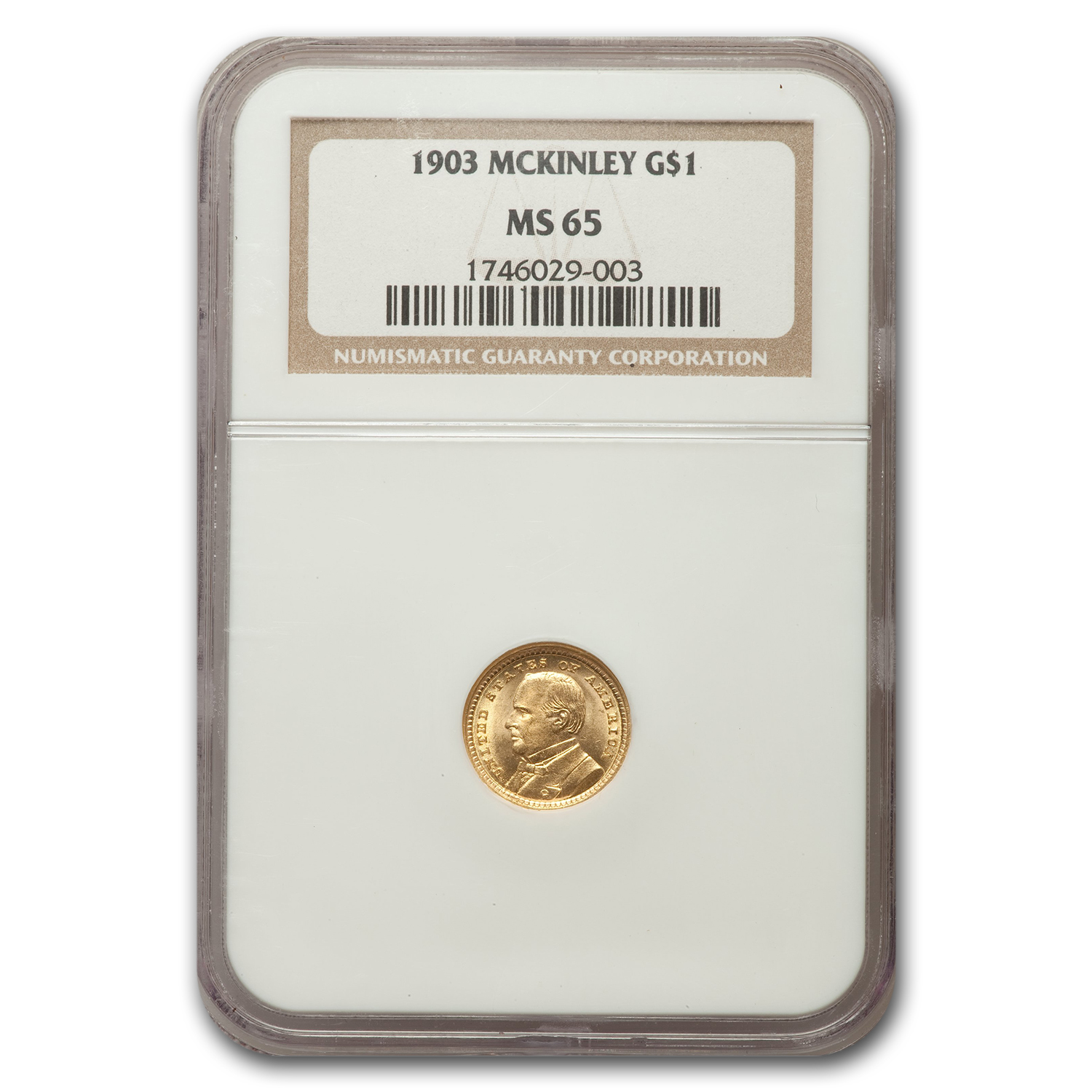1903 $1 Commemorative Gold MS-65 NGC