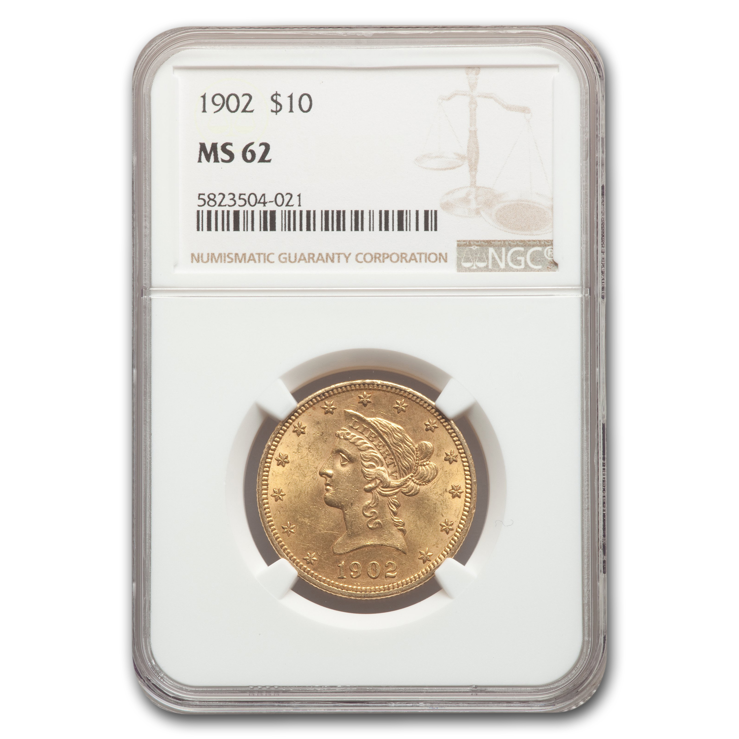 1902 $10 Liberty Gold Eagle MS-62 NGC