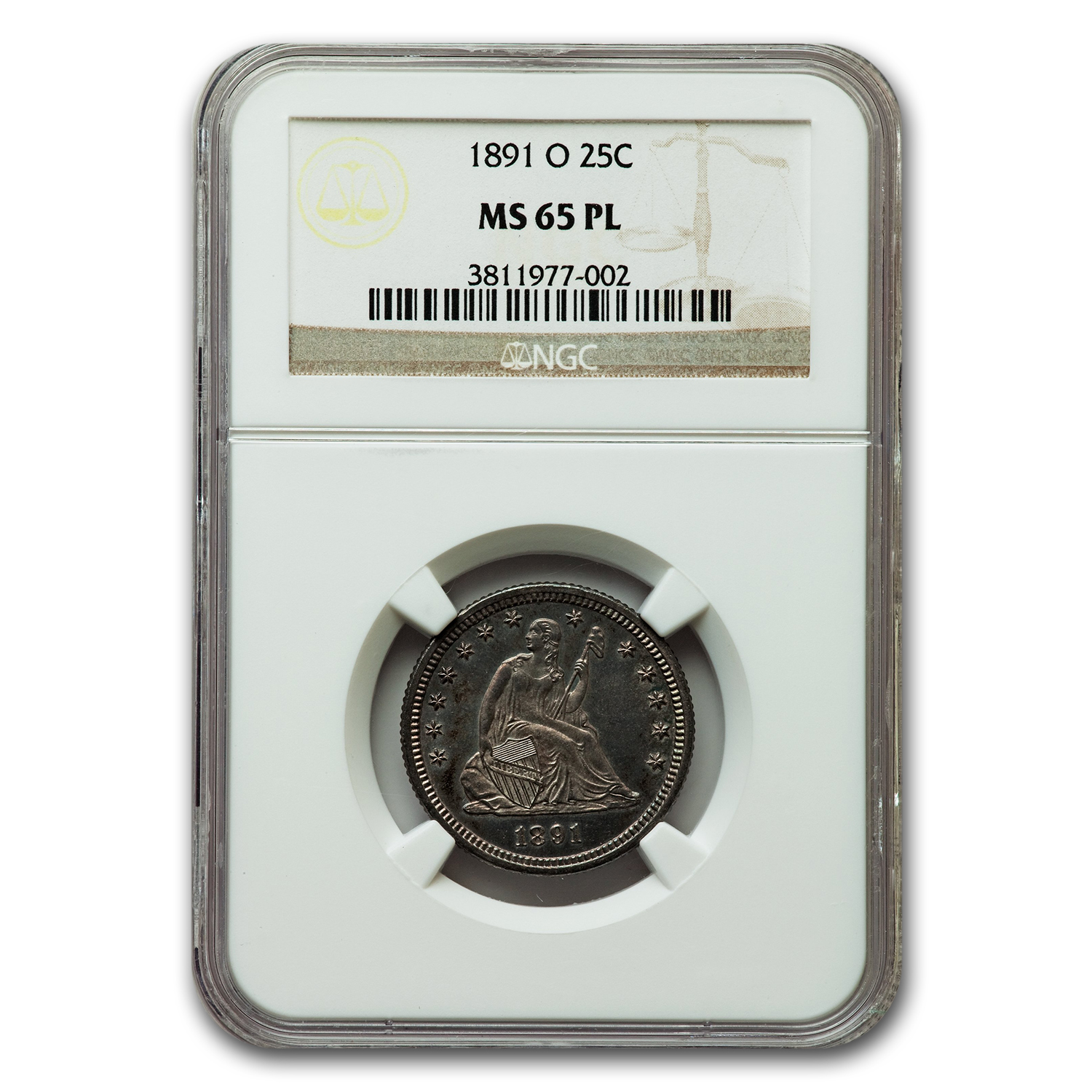 1891-O Liberty Seated Quarter MS-65 NGC (PL)