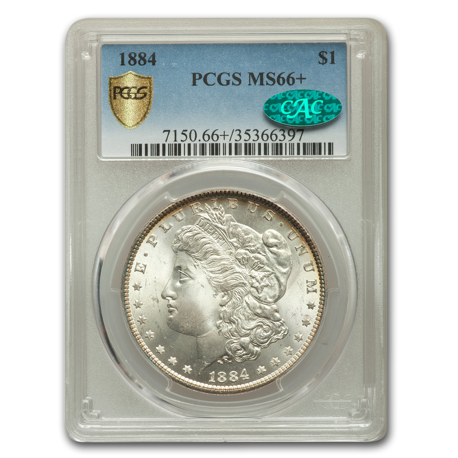 1884 Morgan Dollar MS-66+ PCGS CAC
