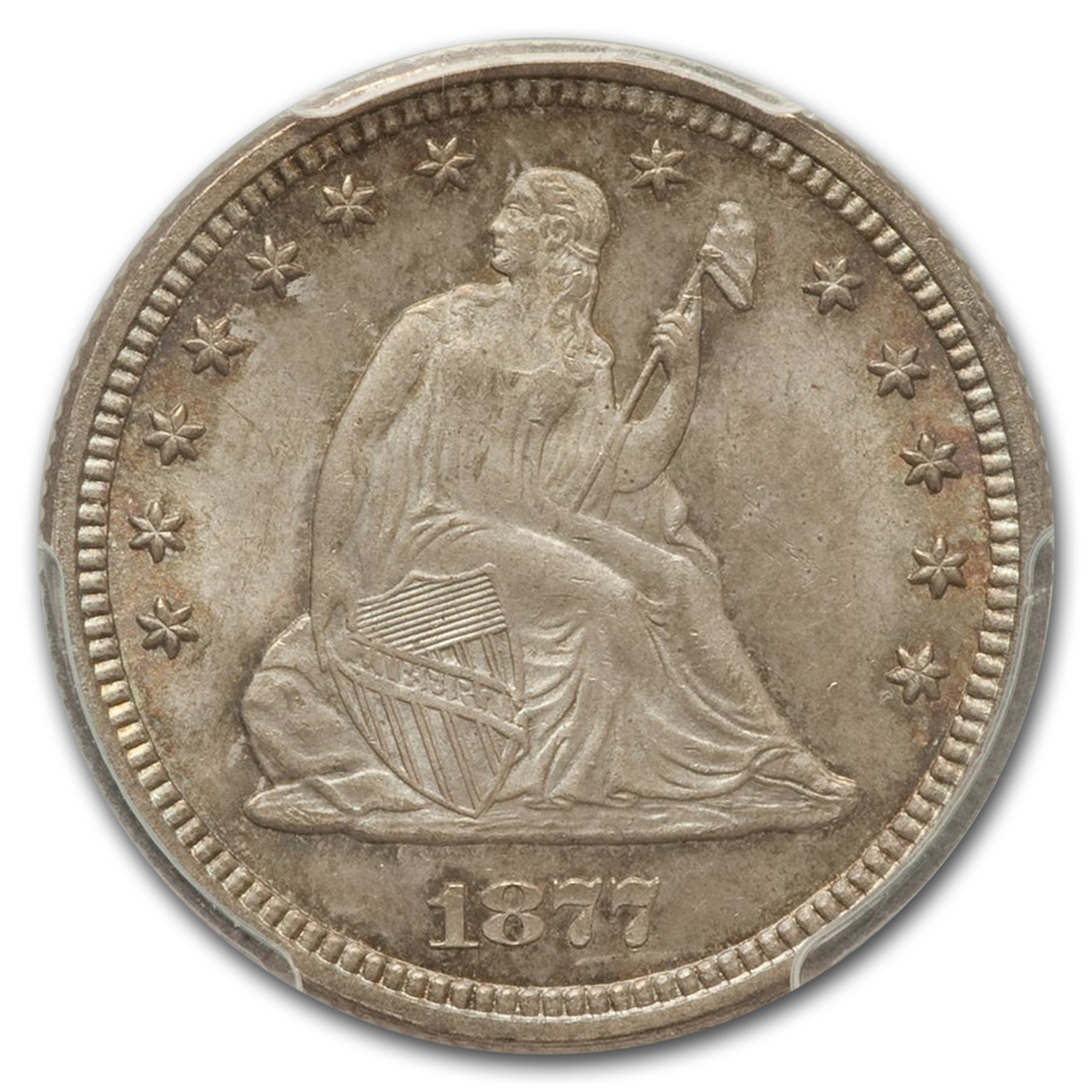 1877 Liberty Seated Quarter MS-66 PCGS