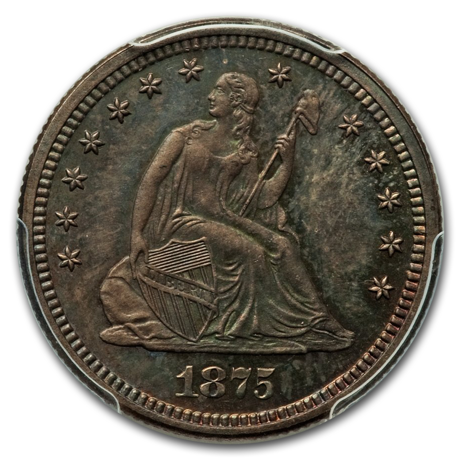 1875 Liberty Seated Quarter PR-64 PCGS