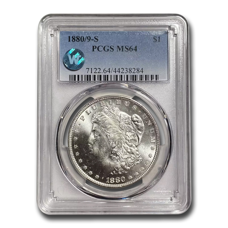 1880/9-S Morgan Dollar MS-64 PCGS