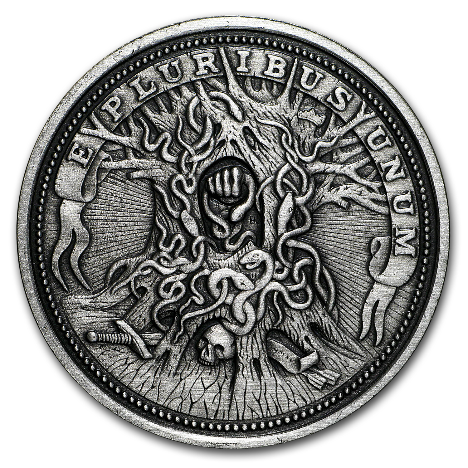 1 oz Silver Antique Hobo Nickel (Knight, Death and The Devil)