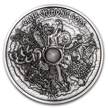 2017 Samoa 1 Kilo Silver Greek Chthonic Gods Multiple