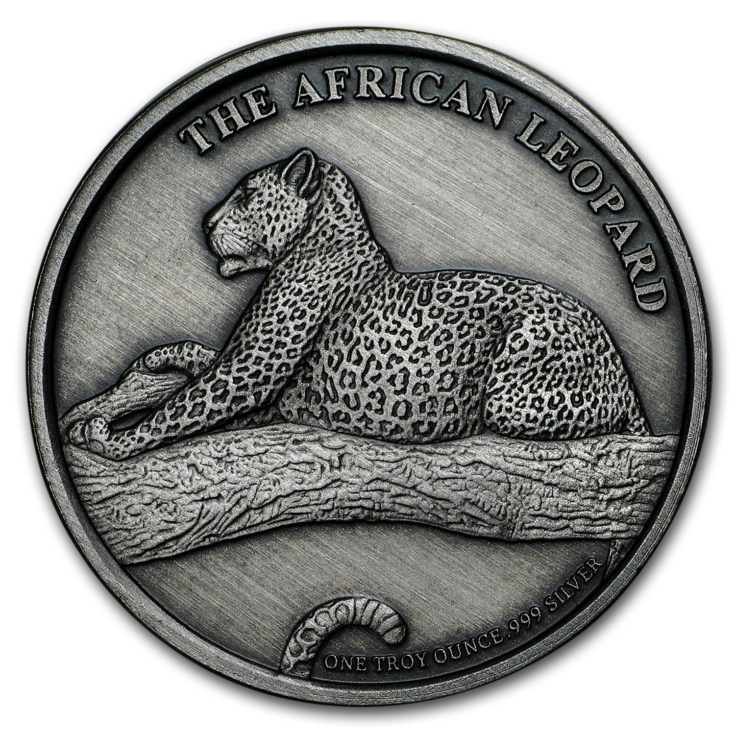 1 oz Silver Antique Round - The Silver Kruger (African Leopard)
